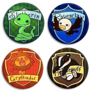 Chapas Casas Harry Potter Kawaii