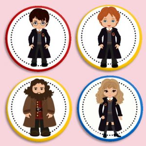 Chapas personajes Harry Potter