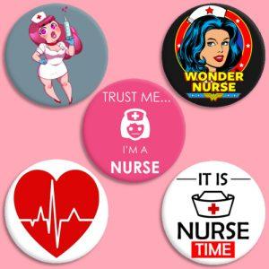 chapas para enfermeras