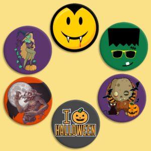 chapas monstruos halloween