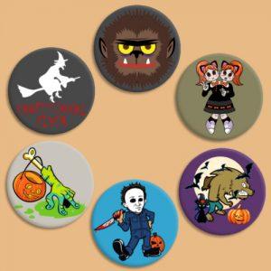 chapitas monstruos halloween