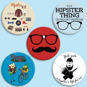 Chapitas hipsters