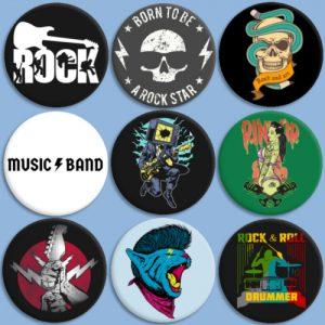 Chapas para rockeros