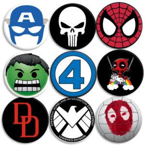 Pack Chapas Superheroes 2